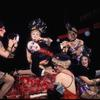Joel Grey and chorus girls in the stage production Cabaret
