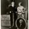Leslie Adams (Herbert Hoover) Helen Broderick (Mrs. Hoover) in the stage production As Thousands Cheer.