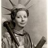 """Helen Broderick as """"Statue of Liberty"""" in As Thousands Cheer."""