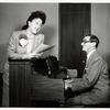 Ethel Merman and Irving Berlin during rehearsal for Call Me Madam.