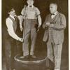 Eddie Cantor, Lew Hearn and unidentified actor in the touring stage revue The Midnight Rounders.