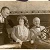 Barney Bernard, Alexander Carr, and Mabel Carruthers in the stage production Partners Again.
