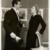 Victor Mature and Gertrude Lawrence in Lady in the Dark.