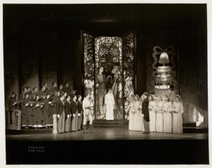 Gertrude Lawrence (as bride) and ensemble in Lady in the Dark.