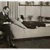 Donald Randolph (sitting) and Gertrude Lawrence (lying down) in Lady in the Dark.