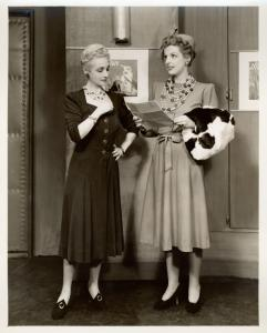Margaret Dale and Natalie Schafer in Lady in the Dark.