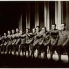 Irving Berlin and company in the stage production This Is the Army.