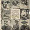 Williams and Walker Nature's Black-Face Comedians in a Series of Specially Posed Facial Stunts. Left page.