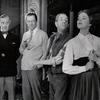 Robert Coote, Rex Harrison, Stanley Holloway, and Julie Andrews in My Fair Lady