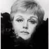 Angela Lansbury head shot, black feather ruff. April 4, 1969