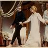 Gower Champion, Mary Martin and Robert Preston taking curtain call after performance of the stage production I Do, I Do