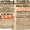 Jane Eyre playbill for the Victoria Theatre