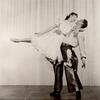 Unidentified male and female dancers in the stage production Oklahoma!