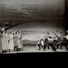 Katherine Sergava (Dream Laurey/Ellen), Marc Platt (Chalmers/Dream Curly) and dancers in the stage production Oklahoma!