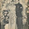 Wedding photo of Eleanor Powell and Glenn Ford.