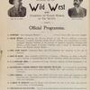 Buffalo Bill's Wild West and Congress of Rough Riders of the World: Official Programme