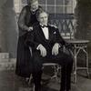 Fredric March and Florence Eldridge in the stage production The American Way.