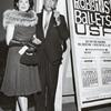 Kitty Carlisle and Moss Hart outside theatre for Jerome Robbins' Ballets USA, 1961.