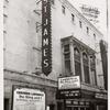 """Exterior view of St. James Theatre and its marquee promoting Gertrude Lawrence in the stage production """"The King and I."""""""