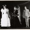 Audrey Hepburn, Cathleen Nesbitt and Michael Evans in the stage production Gigi.
