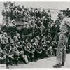 Joe E. Brown entertaining troops.
