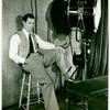 Joe E. Brown during the filming of the motion picture Fireman, Save My Child.