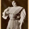 Portrait of Trixie Friganza wearing plaid dress.