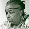 Portrait of Ethel Waters wearing an eyepatch.