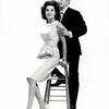 Jack Cassidy and Patricia Marand posing around step stool.