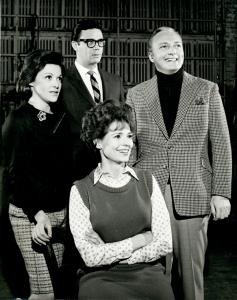Linda Lavin, Bob Holiday, Jack Cassidy and unidentified actress.