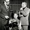 "Bob Holiday, Joan Hotchkiss and Jack Cassidy in rehearsal for the stage production ""It's a Bird... It's a Plane... It's Superman"""