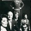 Patricia Marand, Jack Cassidy, Bob Holiday in Superman costume, Linda Lavin and two unidentified actors.