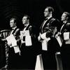 Jack Cassidy (second from left) and unidentified actors in the stage production Inside U.S.A.