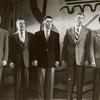 Jack Cassidy (second from right) and unidentified actors in the stage production Inside U.S.A.