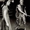 Irene Papas and Christopher Walken in the stage production Iphigenia in Aulis, Circle in the Square, 1968.