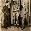 Son of Horace Liveright, Paul Robeson, and Horace (Otto) Liveright during the stage production Black Boy, Comedy Theatre, 1926.
