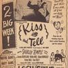 Newspaper ad for Kiss and Tell (Columbia Pictures)