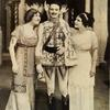 Publicity photo of Donald Brian and two unidentified actresses in the stage production The Merry Widow.