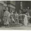Theda Bara (right) and cast members in the motion picture Cleopatra.