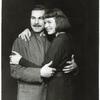 Sam Wanamaker and Ingrid Bergman in Joan of Lorraine.