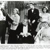 Lionel Barrymore, Jean Arthur, Samuel S. Hinds, James Stewart, Ann Miller and Spring Byington in the motion picture You Can't Take It with You.