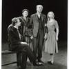 Alfred Lunt, Ken Walken, Daphne Newton and Marla Adams in the stage production The Visit.