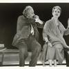 Alfred Lunt and Lynn Fontanne in the stage production The Visit.