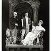 Lynn Fontanne and two unidentified actors in the stage production The Visit.