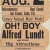 Poster for August 2, 1910 stage production Oh! Boy starring Alfred Lunt.