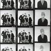 Contact sheet from Cambridge Circus with Tim Brooke-Taylor (also in stand alone portrait shots), David Hatch, Jean Hart, Bill Oddie, and John Cleese.