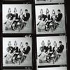 Contact sheet from Cambridge Circus with Jean Hart (in front), David Hatch, Tim Brooke-Taylor, Bill Oddie, and John Cleese.
