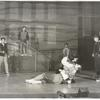 Carol Lawrence, Larry Kert and ensemble in the stage production West Side Story.