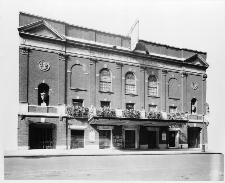 Henry Miller's Theatre. Exterior shot.