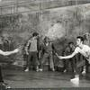 Ken LeRoy, Mickey Calin, and company in the stage production West Side Story.